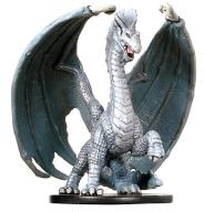 Large Silver Dragon (Juvenile) Miniature