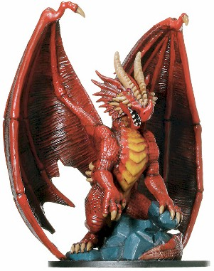 Huge Red Dragon Miniature