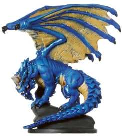 Large Blue Dragon Miniature
