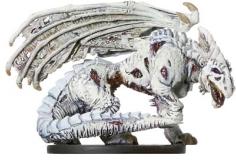 Zombie White Dragon Miniature