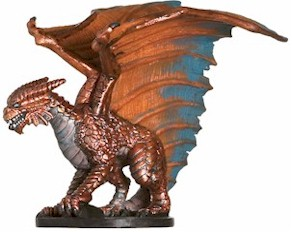Large Copper Dragon Miniature