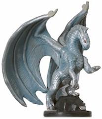 Medium Silver Dragon Miniature