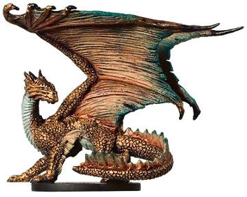 Miniatures Database: Miniature: War Drums #7 - Large Bronze Dragon