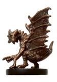 Small Copper Dragon Miniature