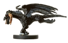 Small Black Dragon Miniature