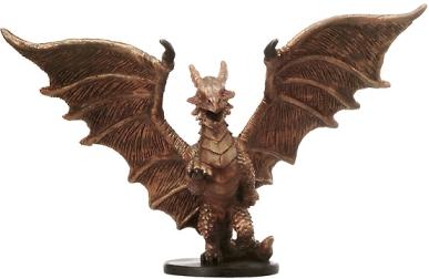 Medium Copper Dragon Miniature