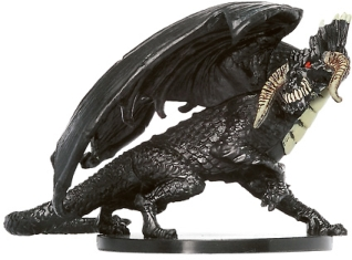 Large Black Dragon Miniature