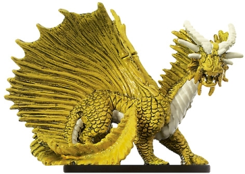Large Gold Dragon Miniature