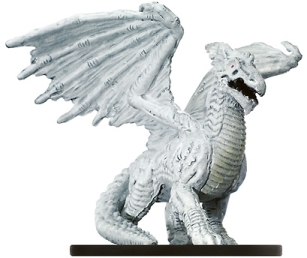 Large White Dragon Miniature