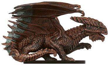 Capricious Copper Dragon Miniature