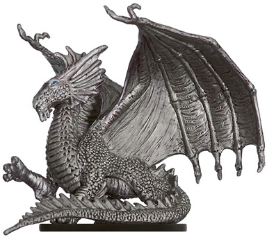 Young Silver Dragon Miniature