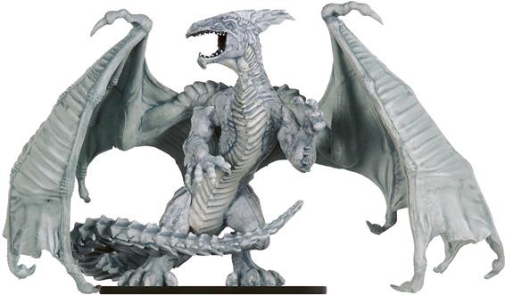 Elder White Dragon Miniature