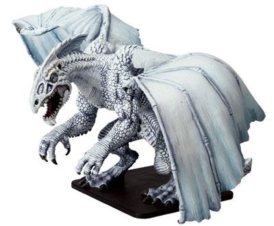 Icingdeath, Gargantuan White Dragon Miniature