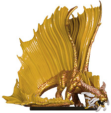 Young Gold Dragon Miniature